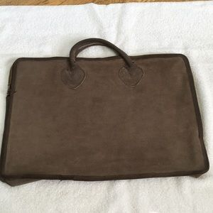 Vintage LL Bean Suede/ Leather Tote